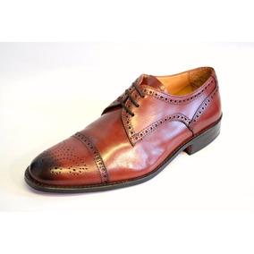 Zapatos De Vestir De Cuero Picados Ragazzi 3337 Marrón