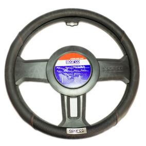 Funda Cubre Volante Sparco Original Negra Rojo Placa 1