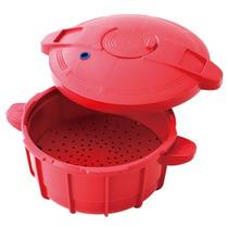 Panela De Pressão Para Microondas Easy Cooker 2,5l Verm