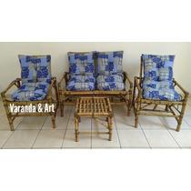 Sofá De Bambu Jogo |completo Conjunto De Poltronas Cadeiras