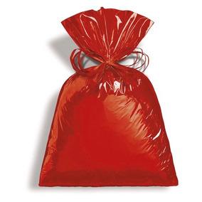 Saco Presente Metalizado Vermelho 50x70 Pct C/25und Bp0707
