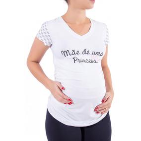 Blusa Gestante Temática Mãe De Princesa
