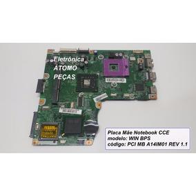 Placa Mãe Notebook Cce Modelo Win Bps Pci Mb A14im01 Rev 1.1