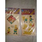 Set 2 Hojas Tatuajes Al Agua Los Simpson 1990 En Caballito