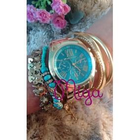 Relógio Feminino Prata Dourado Frete Grátis