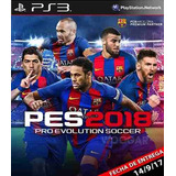 Pes 2018 Pro Evolution Soccer Formato Digital Ps3 Entrega In