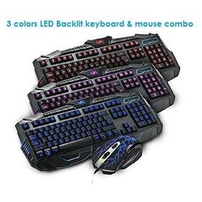 Combo Mouse Y Teclado Gamer Retroiluminados