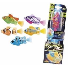 Robo Fish Peixe Robotico 6 Un - Original Dtc Com Luz De Led