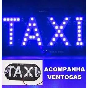 Painel Led Taxi Letreiro Luminoso Placa Interno