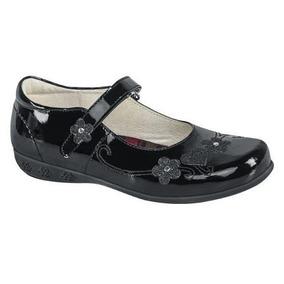 Zapato Escolar Niña Piel Charol 167837 Ez1 Envio Gratis