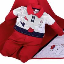 Saída Maternidade Sonho Mágico Vermelho Masculino Marinheiro