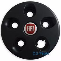 Calota Ducato Centro Roda Aro 16 Preta Com Emblema
