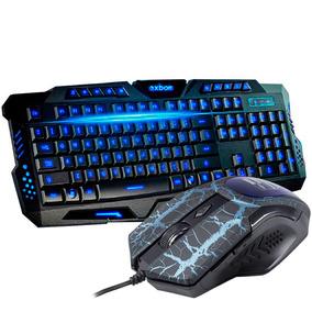 Kit Teclado Gamer Luminoso + Mouse 3200 Dpi Usb Jogos Pc