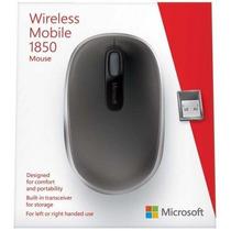 Mouse Óptico Microsoft 1850 Sem Fio Wireless U7z-00008 Preto