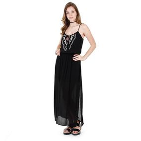 Vestido Étnico Feminino Facinelli - Preto