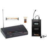 Ponto Monitor Sistema Sem Fio Uhf + Fone Compatível C-ie6-u