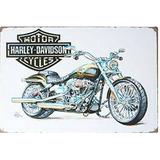 Harley Davidson Arte De La Motocicleta, Metal + Envio Gratis