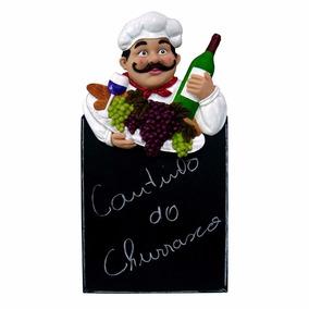 Placa Cozinheiro Lousa Giz Chef Cozinha Restaurante, 61cm