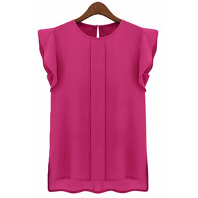 Blusa Semiformal Casual Rosa Oficina Moda Coreana