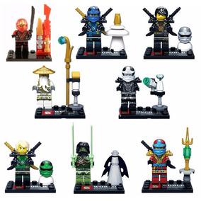 Kit 8 Bonecos Compativel Lego Ninjago - Olhar As Fotos