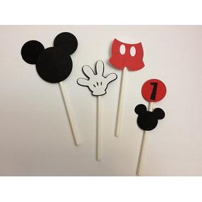 Decoração De Aniversário Espeto E Mickey Mouse (unidade)