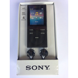 Mp4 Walkman Preto 4gb Fm - Sony Nw-e393