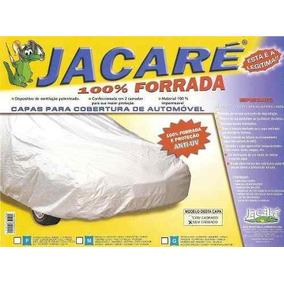 Capa Jacaré 100% Forrada C/ Kit Cabo Ilhós E Cadeado Tam G