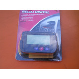 Reloj Digital Para Tablero Carros, Fácil Instalación.