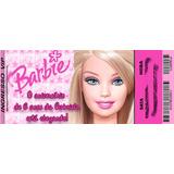 50 Convite Ingresso Barbie Personalizado Aniversário