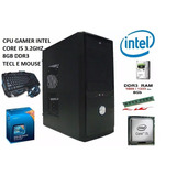 Cpu Gamer Computador Core I5 8gb 320g Hd Kit Mouse E Teclado