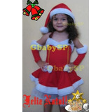 Fantasia Da Mamãe Noel Infantil Roupa Noelete Vestido Natal