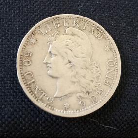 Patacon Argentina 50 Centavos Plata Fina Año 1882