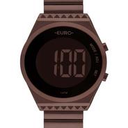Relógio Euro Feminino Digital Slim Eubjt016af/4m Chocolate