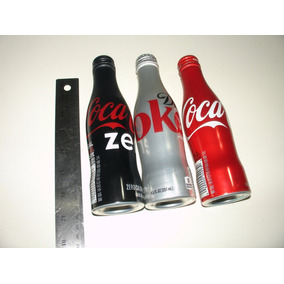 = Coca Cola = 3 Garrafinhas Aluminio Coke Zero Light 251ml U