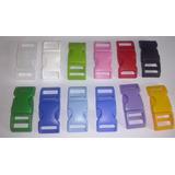 Fecho De Engate Rápido Em Plástico- 100 Un Colorida 15mm