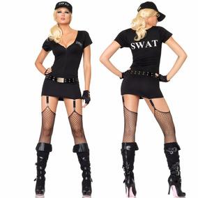 Disfraz Sexy Dama Swat Comandante Policía Leg Avenue Nuevo