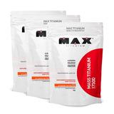 Combo 3 Hipercalórico Mass Titanium 17500 3kg Max Titanium