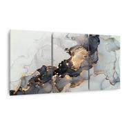 Quadro Abstrato Em Arte Moderno Luxo Decorativo Jogo 3 Peças