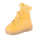 Bota Dinda Baby Cano Baixo Infantil Amarelo