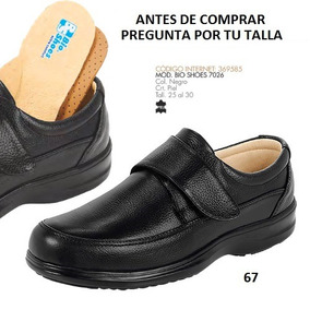 Zapatos Bio Shoes Para Caballero Negro (diabetes) Mod. 7026