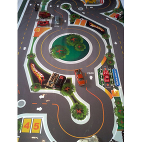 Pista Hot Wheels P/ Hot Wheels Incrível Tapete + Vendida - P