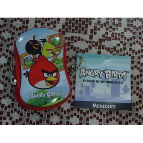 Bolsita Monedero Metalica D Angry Birds 100% Original Nva