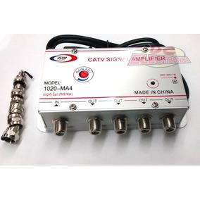Amplificador De Señal De 20db 4 Salidas Antena/cable 25448