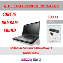 Notebook Lenovo Thinkpad T430 Corei5 8gbram 500hdd Usada