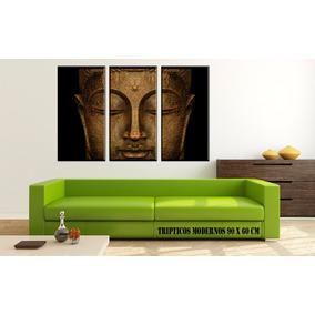 Cuadros Tripticos Modernos Oriental Zen En Lienzo Canvas!!