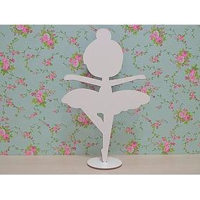 60 Bailarinas Infantil Mdf Branco Lembranças Festas 15 Anos
