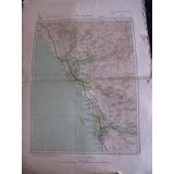 Mercurio Peruano: Viejo Impreso Mapa Huacho Lima L92