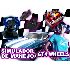 Simulador De Manejo Gt-4 Wheels Ps1 Ps2 Pc Con Pedalera