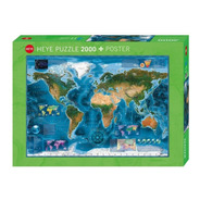 Puzzle 2000pz Satellite Map 29797- Heye 29797