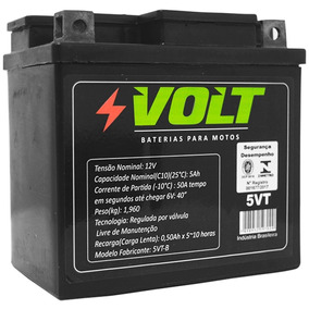 Bateria Moto Cg 125 Titan Ks 5vt Selada 12v 2002 A 2004